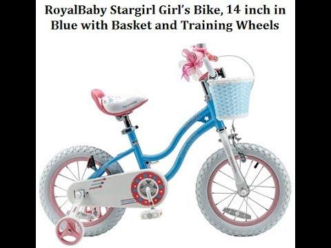 RoyalBaby Stargirl BMX Girl's Bike 14 inch Blue - Best Kids Ride on Toys