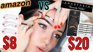 THE PERFECT EASY BROW?! Anastasia Beverly Hills vs $8 Amazon Brow Stencils