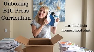 Unboxing BJU Press Curriculum and a little homeschool chat