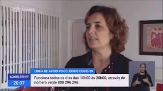 Governo dos Açores disponibiliza linha de apoio psicológico COVID-19: 800296 296