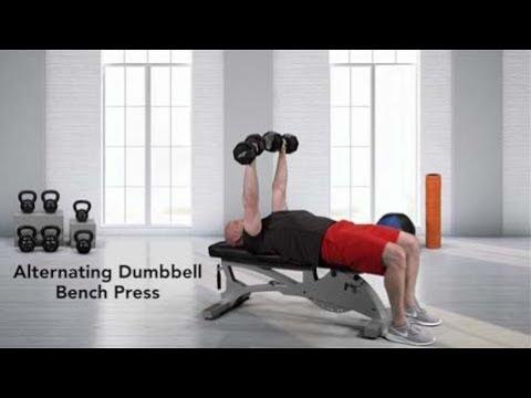 Alternate Dumbbell Bench Press (high start)