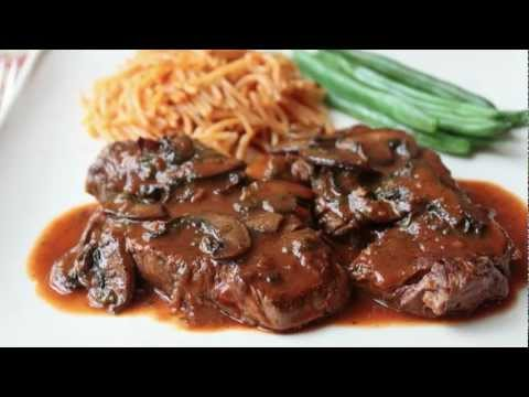Beef Medallions with Caramelized Tomato Mushroom Pan Sauce – Beef Tenderion Medallions