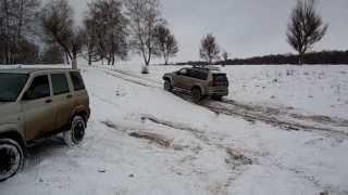 Уаз Патриот Спорт, Pajero Sport и Pajero-2, тест зимних шин