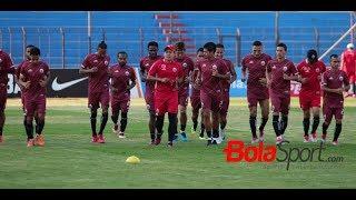 Intip Latihan Persija Jakarta Jelang Lawan PSIS Semarang di Stadion Sultan Agung