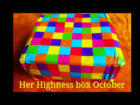 Her Highness box Oct 2017 | Discount Code |Unboxing and Review | Makeup | Skincare | Jewelry
