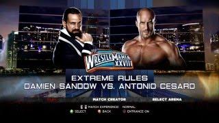 WWE 13 - Damien Sandow vs Antonio Cesaro
