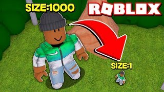 Becoming the smallest Roblox player ever...