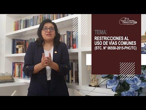 RESTRICCIONES AL USO DE VÍAS COMUNES - Luces Cámara Derecho 182