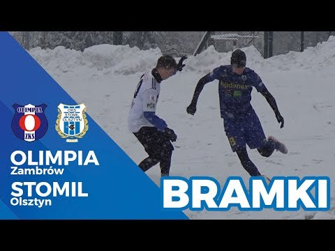 Bramki z meczu Olimpia Zambrów - Stomil Olsztyn 1:3