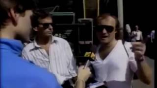 Phil Collins 1987 Interview clip and Genesis fans at a concert