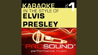 Are You Lonesome Tonight (Karaoke Instrumental Track) (In the style of Elvis Presley)