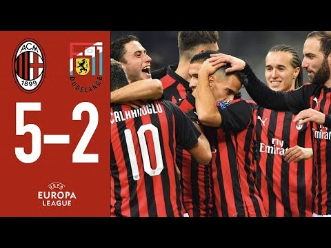 Highlights AC Milan 5-2 F91 Dudelange - Matchday 5  Europa League 2018/19