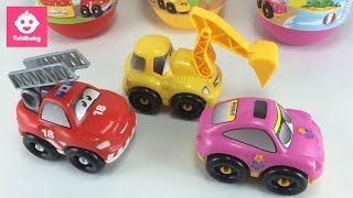 Toys for 2 year olds - Toys Kids - Tuti 3 Giant Cars Surprise Eggs Unboxing - Abrick Eggs - TutiBaby