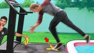 DONT SLIP OFF the Treadmill Challenge!!