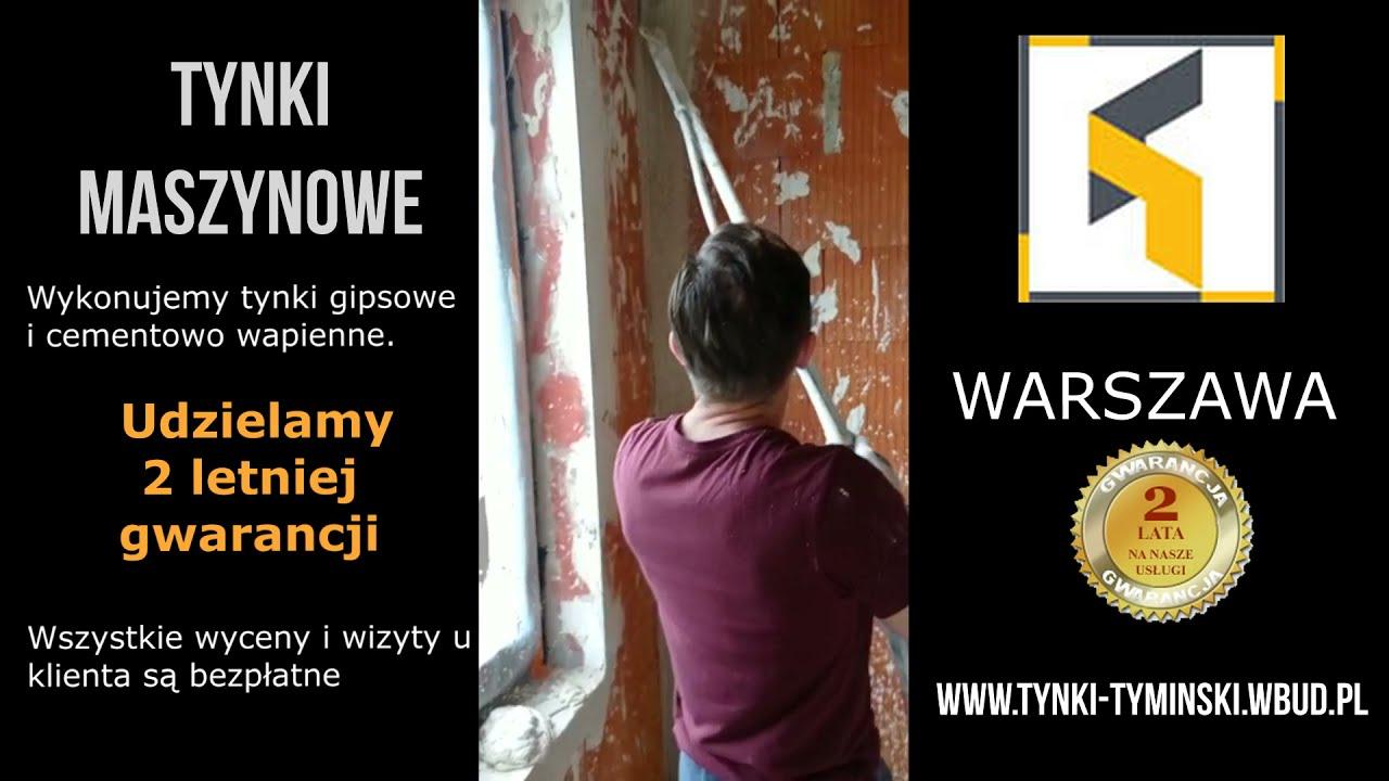 Tynki maszynowe w Warszawie P.R.B. TYMIŃSKI