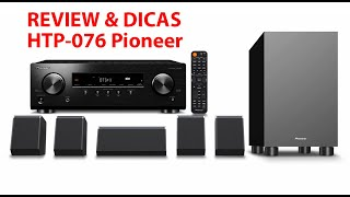 Review & Dicas Home Theater Pioneer HTP-076 (Receiver VSX-326) - Parte 1/3  PT-BR