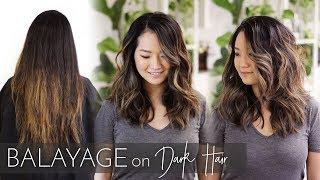 Balayage On Dark Hair   Foilayage Technique On Black Asian Hair