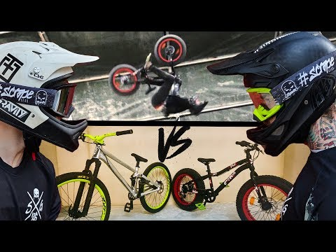 GAME OF BIKE - Mini-Fatbike gegen Dirt Jump Bike 20 zoll vs 26 zoll Tricks Kidsbike | Fabio Schäfer