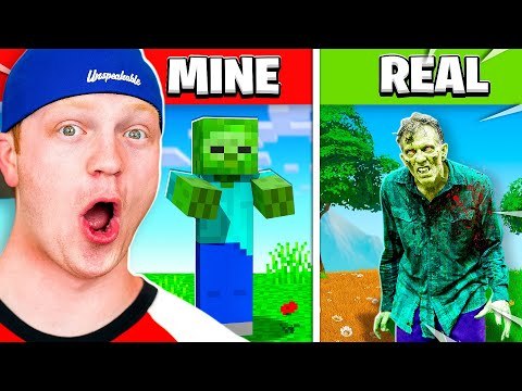 Reacting To Minecraft BUT In REAL LIFE!