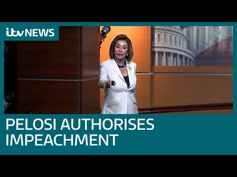 Pelosi authorises drafting of impeachment articles against Trump   ITV News