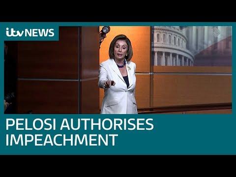 Pelosi authorises drafting of impeachment articles against Trump | ITV News