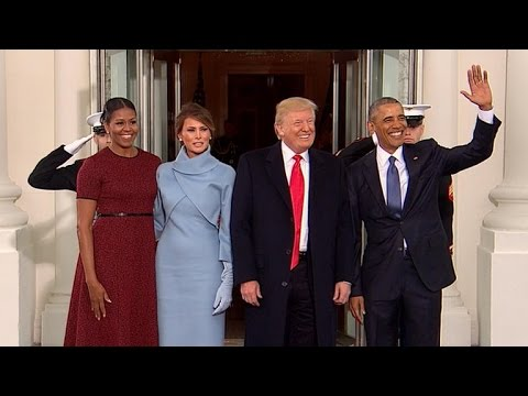 Obamas greet President-elect Trump at White House