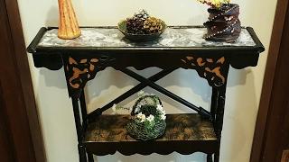DIY CARDBOARD FURNITURE/ Cardboard Table Shelf / Marble/faux TUTORIAL