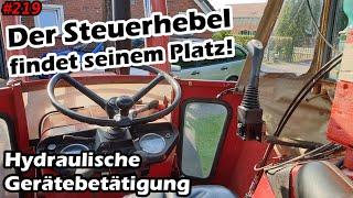 Der Kreuzhebel und seine Halterung | Hydraulische Gerätebetätigung | IHC 633 | Mr. Moto