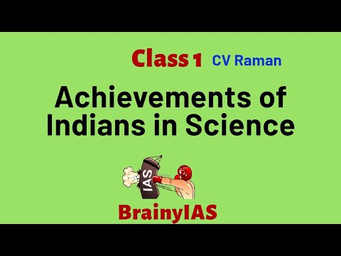 Achievements of Indians in Science and technology-Class 1