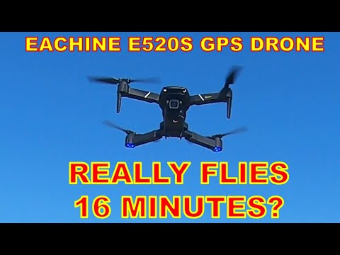 Maximum Flight Time at WINDY WEATHER - Eachine E520S GPS Drone