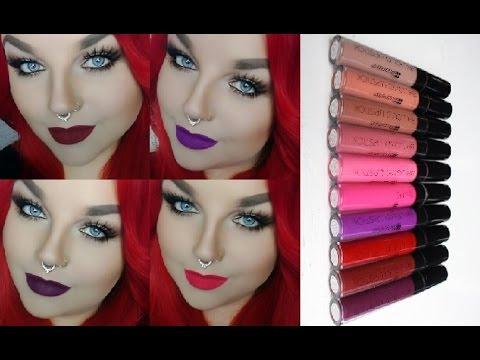 #1 LIQUID LIPSTICKS!!! BH Cosmetics im Test - Alle Farben!  Flüssiger Matter Lippenstift DEUTSCH