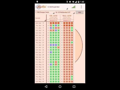 Video of RailCal: Availability Calendar