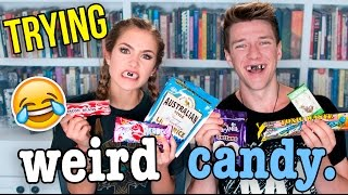 Trying WEIRD Foreign Candy CHALLENGE w/ Mel Joy (REACTION) | Collins Key