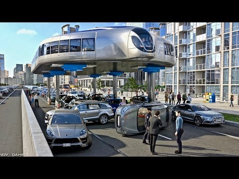 Download Buses That Can Step Over Traffic - Amazing Gyroscopic Transport Concept HD Video