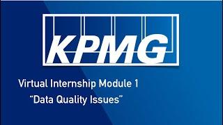 KPMG | VIRTUAL INTERNSHIP MODULE 1