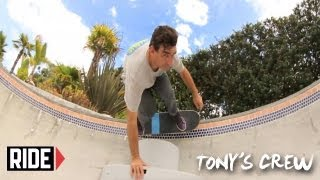 Tony Hawk, Riley Hawk & the FLIP Team Skate Tony's Backyard Park - Tony's Crew - dooclip.me