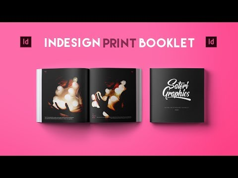 Adobe InDesign Tutorial – Booklet Layout For Print InDesign Tutorial