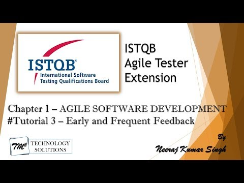 ISTQB Agile Tester Extension | 1.1.3 Early and Frequent Feedback ...