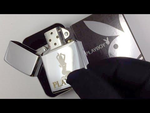 24046 Зажигалка Zippo Playboy Bunny Silver, Polish Chrome
