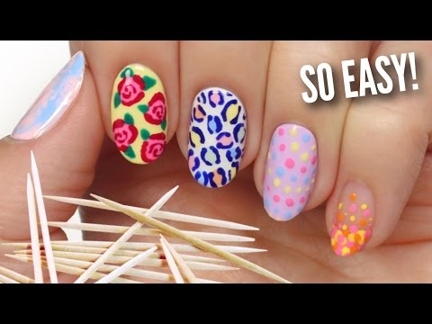 Nail Art For Beginners Using A TOOTHPICK!