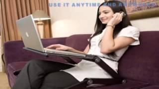 Promo Multifunctional Aluminium Alloy Adjustable Portable Laptop Table Stand Meja Laptop Diskon