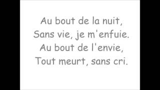 Au bout de la nuit - Paroles - Mylène Farmer