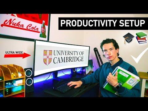 MY HIGHLY PRODUCTIVE DESK SETUP FOR UNIVERSITY // UK STUDENT ROOM TOUR