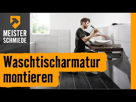 Waschtischarmatur montieren   HORNBACH Meisterschmiede
