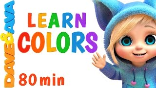 Learn Colors for Сhildren 🌈 Colors Song, Number Song, Counting Songs | Learning Video | Dave and Ava