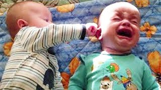 Funny Twin Babies Arguing Over #2 - WE LAUGH