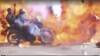 [VIDEO EXCLUSIVO ENWEB] Momento en que GNB fue incendiado por explosión en Altamira #10J