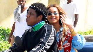 Beyonce and JAY-Z Cuddle Up on Motorcycle While Shooting Music Video in Jamaica