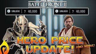 Star Wars Battlefront 2 -  DLC  Hero Price Range, Update, and More!