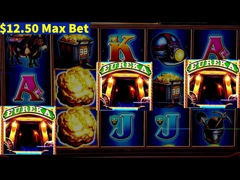 EUREKA Lock it Link Slot Machine $12.50 MAX BET Bonus | Gold Bonanza Slot $6 MAX BET Bonuses